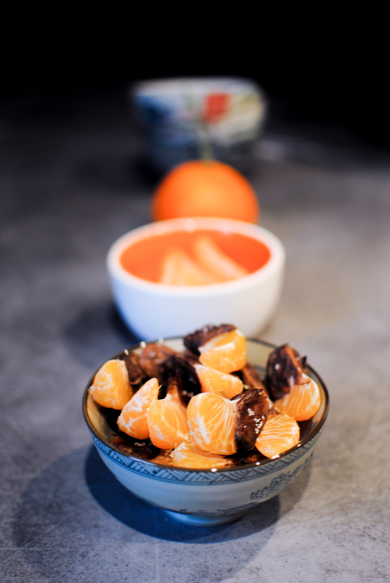 chocolate and fleur de sel clementine