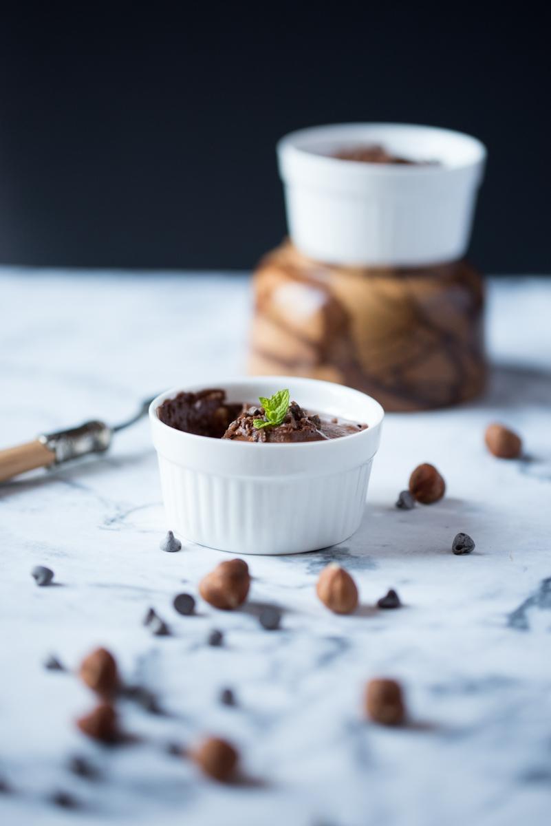 Mousses végétales chocolat praliné