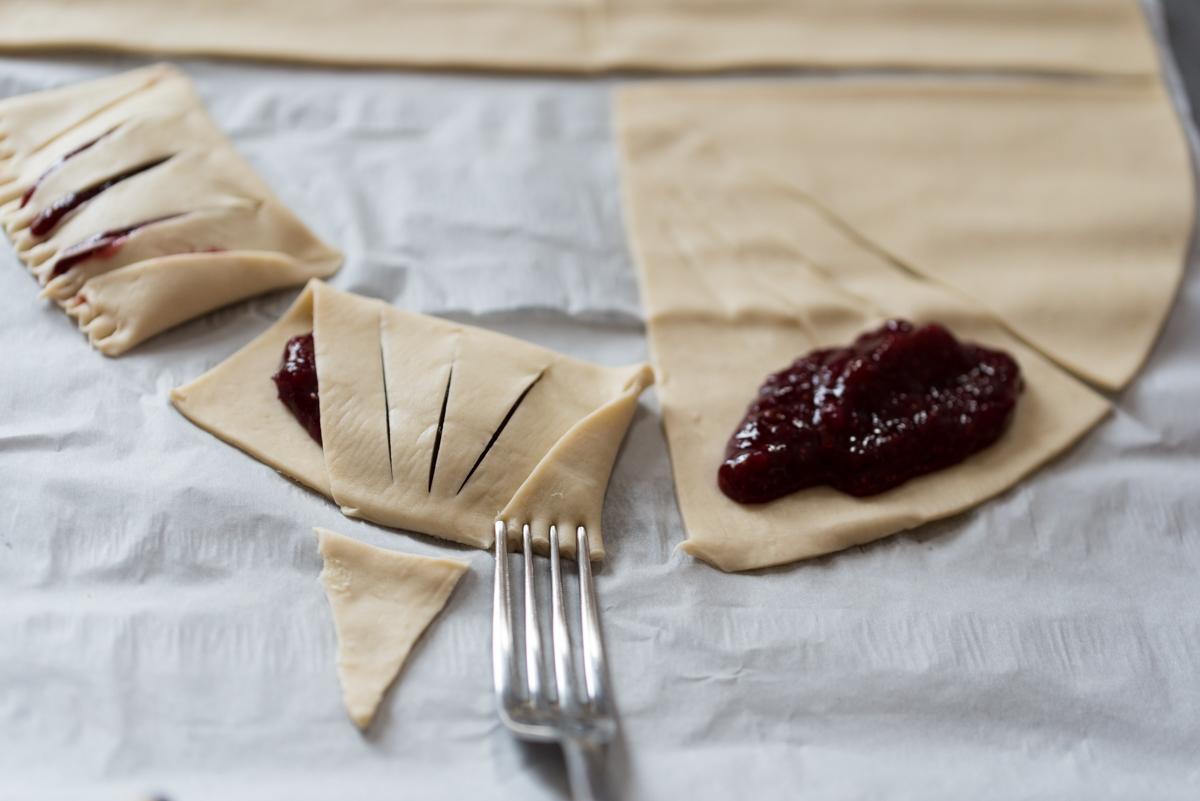 Chaussons à la compote figue-fraise
