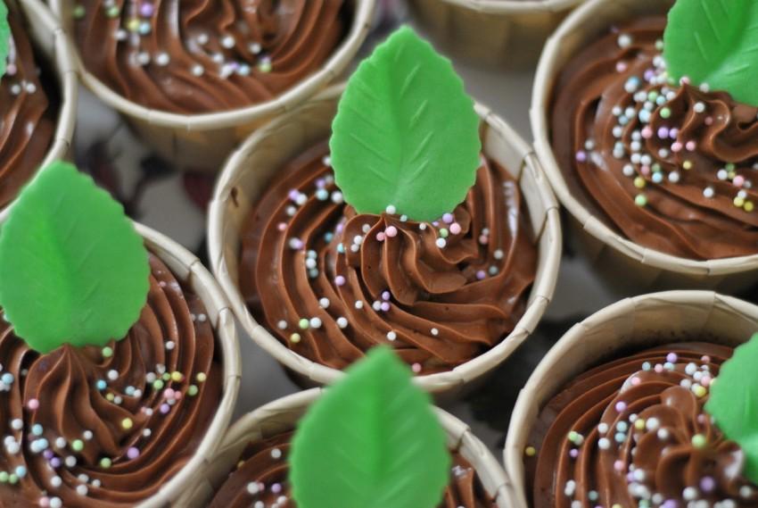 Cupcakes au chocolat crème au beurre au chocolat