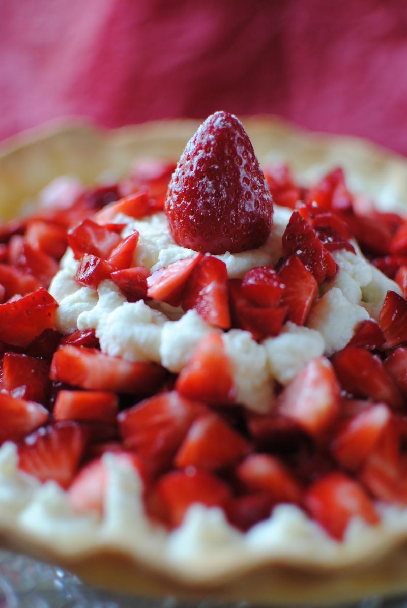 tarte aux fraises légère