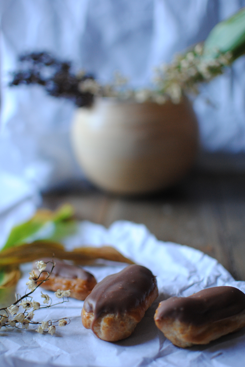 minis éclairs au chocolat