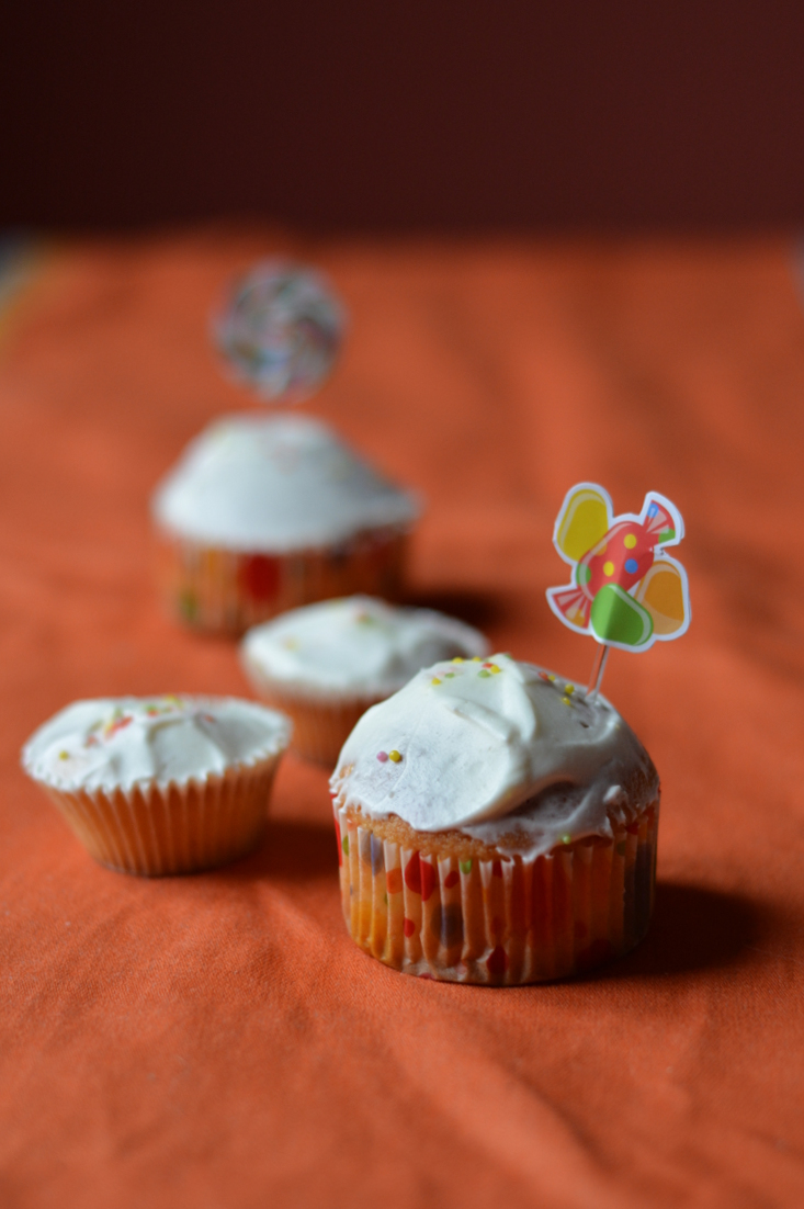 Cupcakes vanille & glaçage yahourt