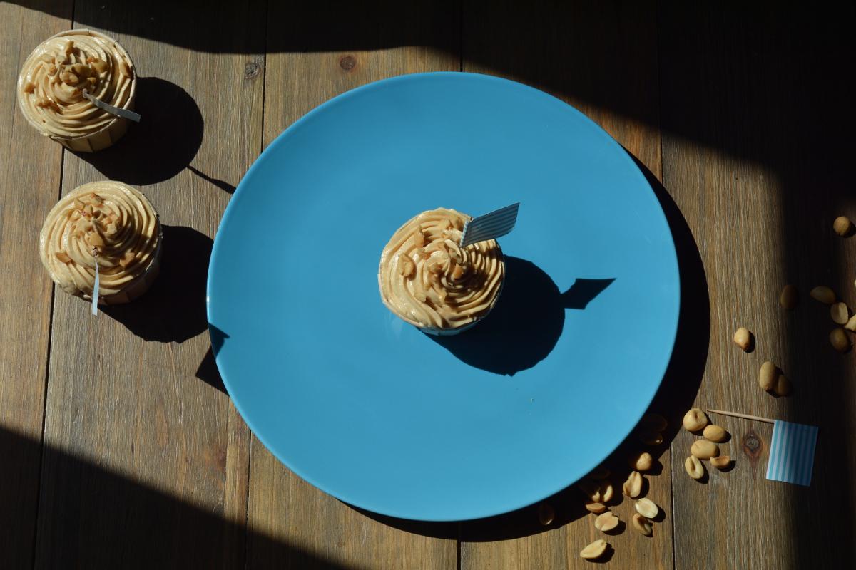 cupcakes chocolat et cacahuètes