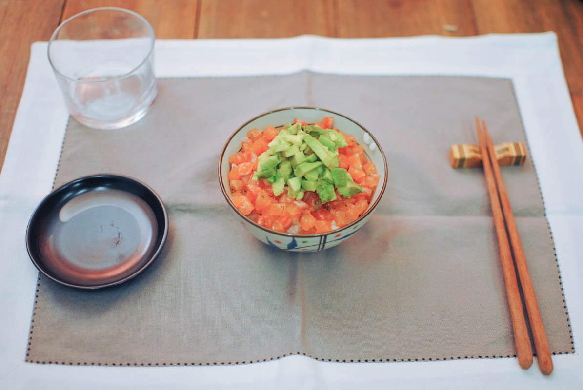 Avocado salmon tartare