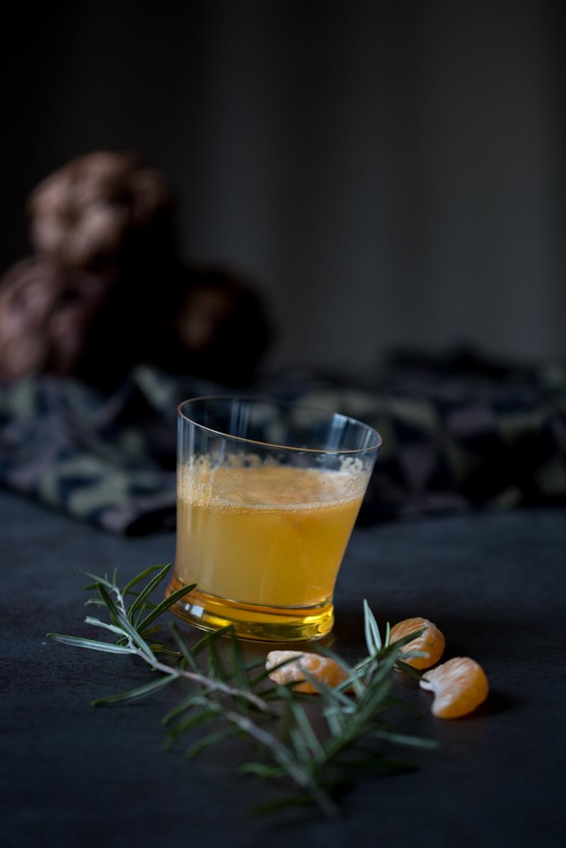 Cocktail clémentine romarin