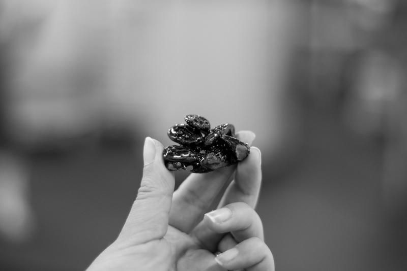 Manufacture Michel Cluizel à Damville, recette de mousses végétales chocolat praliné