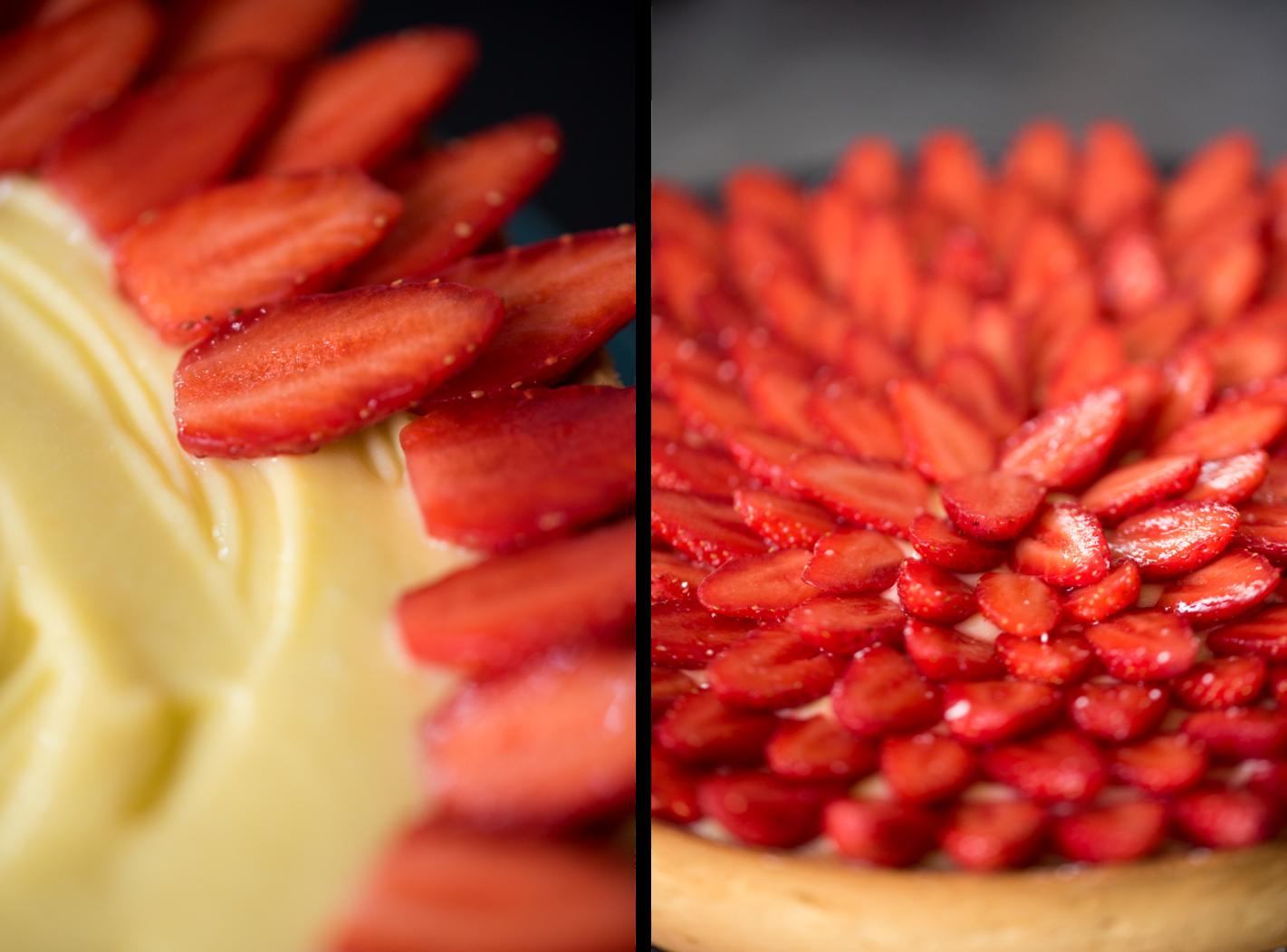 Tarte aux fraises citron-noisette