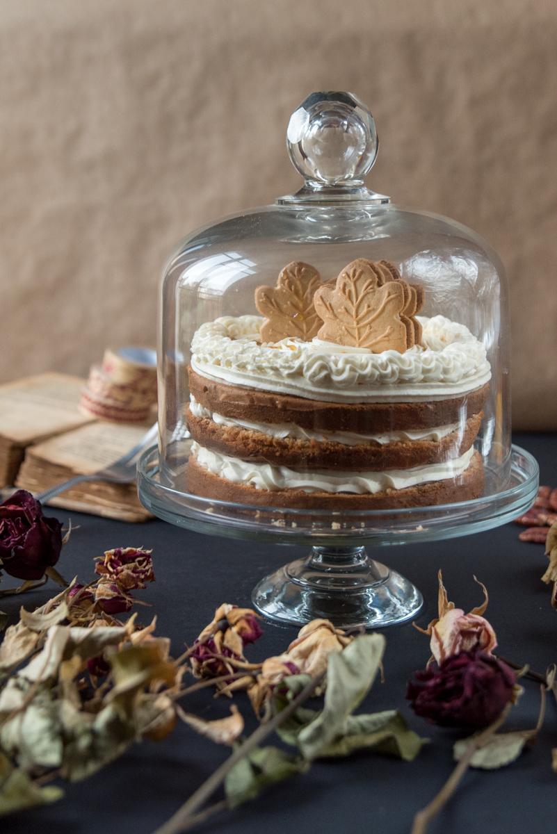 Layer cake Québecois (pécan sirop d'érable)
