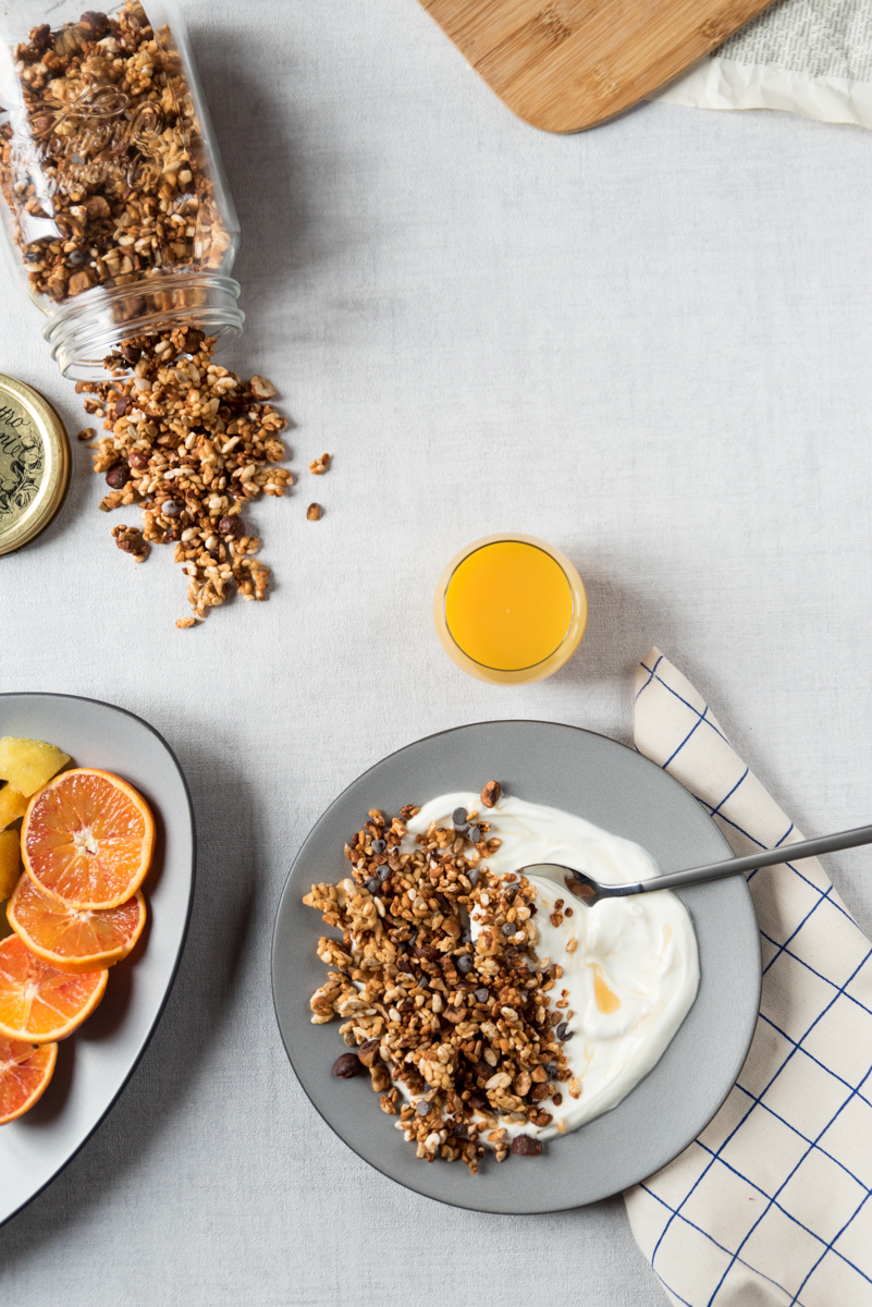 Granola sans gluten (riz soufflé)