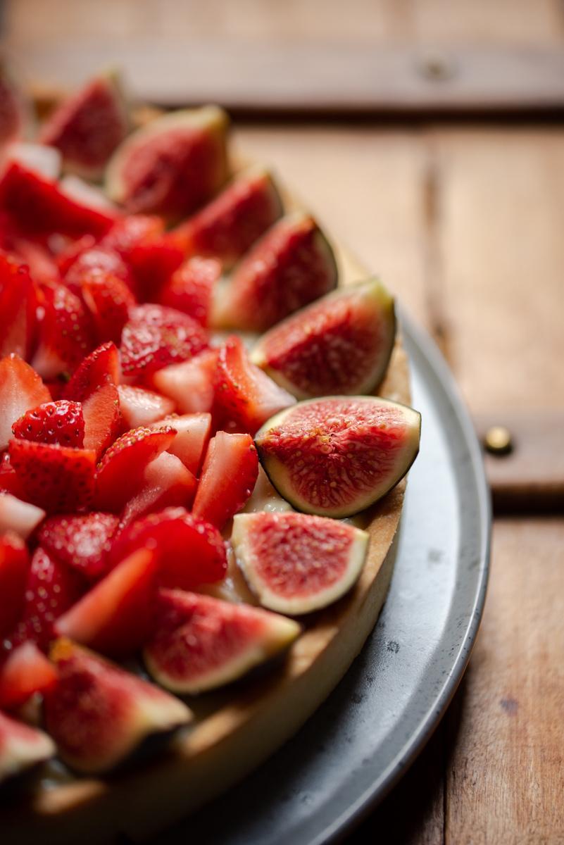 Tarte pâtissière figue fraise