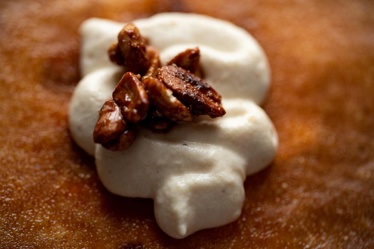 crème cacahuète et cacahuètes caramélisées